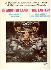"THE ROLLING STONES ""IN ANOTHER LAND/THE LANTERN"" SHEET MUSIC-1967-RARE-NEW-MINT!"