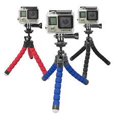 """3 Bein flexibel GoPro Rollei Aktion Cam Mount Stativ Halterung biegsam 1/4"""""""