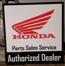 Honda Authorized Dealer parts sales 12x12 sign service vintage advertising 50003