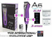 OSTER A6 SLIM ULTIMATE Duty CLIPPER&10,7F BLADE Grooming*220-240 VOLT*WORLDWIDE