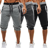 Men Gym Fitness Shorts Running Sport Casual Jogging Sweat Pants Trouser Slim Fit