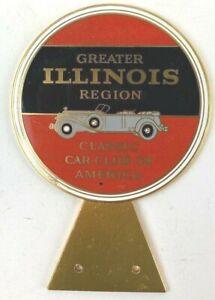 Vintage CCCA Brass License Plate Topper Classic Chicago Car Club of America