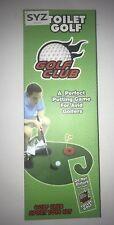 Toilet Bathroom Mini Golf Set Game Potty Putter Sports Silly Gag Gift Xmas Gift