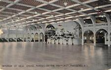 Interior of New Casino, Rhodes-On-The-Pawtuxet, Providence, RI 1918 Postcard