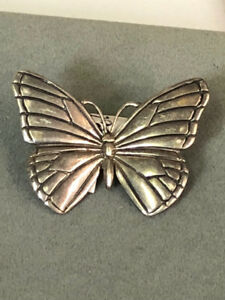 Kabana Sterling Silver Butterfly Brooch Pin