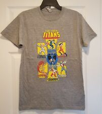 New Teen Titans Group Adult Small Vintage Starfire Nightwing  Cyborg T-Shirt