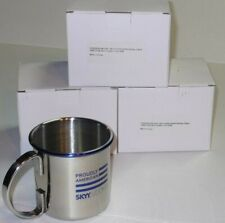 Skyy Vodka Collectable Stainless Steel Moscow Mule Mugs Beer Set Of 4 New In Box