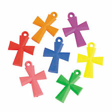 Bright Cross Charms - 28Mm - Craft Supplies - 100 Pieces