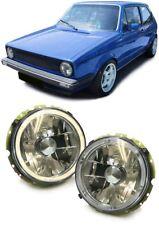 CLEAR ANGEL EYE HEADLIGHTS HEADLAMPS FOR VW GOLF MK1 MK 1 CADDY 1 T2 LT28-35