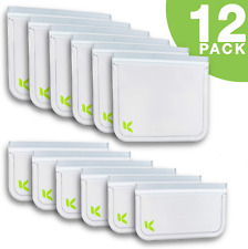 New listing 12 pc Reusable Ziplock Bags Environmentally Friendly Food/Sandwich/Storage