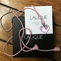 Collier Pendentif LALIQUE Cœur Cristal Rose Neuf Authentique