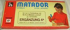 Matador 4A, Korbuly Baukasten, 100 % komplett, 1970er Jahre Holzbaukasten