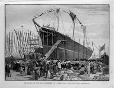 LAUNCH OF THE IRON CLIPPER SHIP T. F. OAKES INTENDED FOR GRAIN TRADE SHIPS