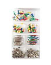 Handy Office Supplies Assorted/Coloured & Plain Paper Clips Push Pins Home UK