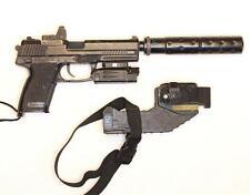 TOKYO MARUI MK23 Custom AIRSOFT Gas Pistol, Holster, Case, Laser/Light