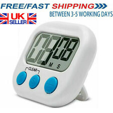 Large Kitchen Cooking LCD Digital Timer Count-Down Up Clock Loud Alarm Stopwatch
