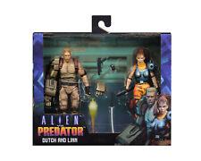 "Alien vs. Predator Arcade DUTCH & LINN 7"" Scale Action Figure Set NECA In Stock"