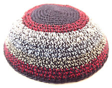 Colorful Knitted Yarmulke Kippah 16 cm Jewish Kippa Judaica Hat Cap Cupples