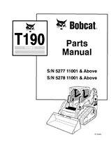 BOBCAT T190 PARTS MANUAL REPRINTED COMB BOUND