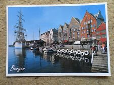 .POSTCARD.NORGE;BERGEN.PHOTO WILLY HARALDSEN.POSTED.9.5.2001.2 STAMPS.