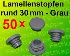 Rundrohrstopfen WS 0,8 bis 2,5 mm 25 Lamellenstopfen Grau Ø aussen 30 mm