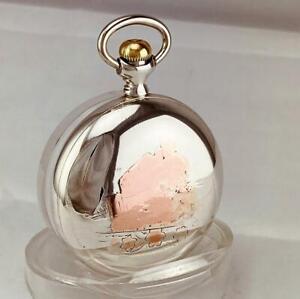 1921 ELGIN 17 RUBY JEWELS Pocket Watch in ORIGINAL STERLING SILVER CASE 18s RUNS