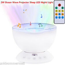 2W Ocean Wave Projector Sleep Colorful LED Night Light Remote Control Lamp