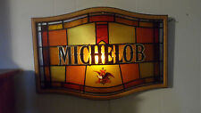 Vintage 1960'S-70'S Anheuser-Busch Michelob Beer Stained Glass Lighted Beer Sign