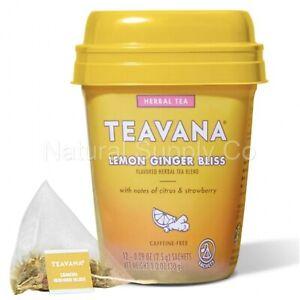 Teavana Lemon Ginger Bliss, Herbal Tea With Citrus & Strawberry (12ct Box)