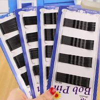 Lots 36/60Pcs Women Black Invisible Hair Clip Wave Top Bobby Pins Salon Barrette