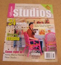 Cloth Paper Scissors Studios Magazine Winter 2011 Eclectic Studios Anna M Horner