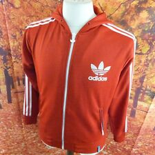 "adidas Originals red full zip Tracksuit Jacket. 19"" pit-to-pit 25"" length Medium"