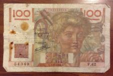 French Banknote. 100 Francs. Dated 1946. Cent Francs. France.