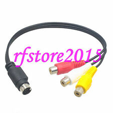 MMI AV Cable 9 PIN S-VIDEO to 3 RCA COMPONENT FOR TV ADAPTER brand new