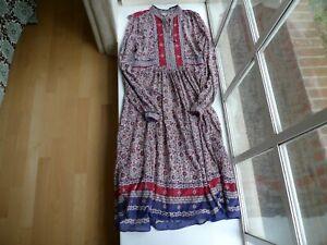 VINTAGE Indian Cotton DRESS Soft Thin Gauze