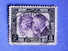 Johore. KGV 1935 8c 50th Anniv. of Treaty Relations with GB. SG129. P12½. Used.