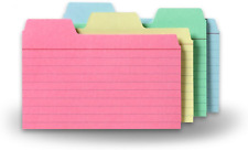 Find It Tabbed Index Cards 3 X 5 Inches Assorted Colors 48 Pack Ft07216