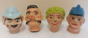 Four Assorted Vintage Puppet Heads ~ See Photos (D4)