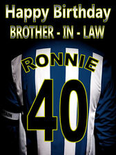 Personalised SHEFFIELD WEDNESDAY FOOTBALL FAN Birthday Card ANY AGE/NAME/ETC..