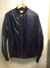 HELMUT LANG Men Dark blue ( almost black ) Slim Fit Motorcycle Bomber Jacket  XS