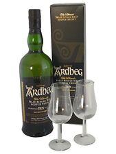 Ardbeg Ten Single Malt Scotch Whisky mit 2 Nosinggläsern Herrentag