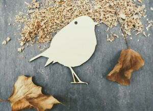 Laser Plywood Christmas Robin Shape x 10, 4mm Plywood Shapes Wooden Shapes