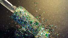 glitter mix acrylic gel nail art crafts    CHRISTMAS MORNING