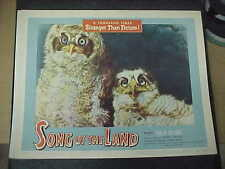 SONG OF THE LAND, orig 1953 LC #5 [Whoooo cares; the owls do - that's who]