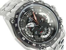 CASIO EDIFICE Chronograph 100M EF550D-1AV EF-550D-1AV Black Free Ship !