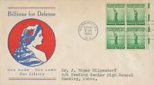 U. S. Scott #899-901 1st Day Cover, Postmarked October 16, 1940 in Washington DC