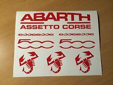 FIAT 500 Aufkleber Set Abarth Racing Tuning Cult Kult esseesse Rennsport Retro
