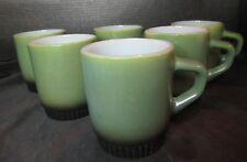 Anchor Hocking Fireking 6 Avocado Green & Black Stackable Mug