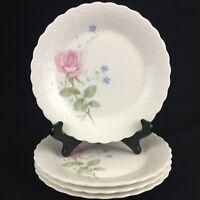 Set of 4 VTG Bread Plates by Mikasa Bone China April Rose A7053 Narumi Japan