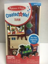 Decorate Your Own Wooden Train Craft Kit Melissa and Doug Educational Kids Toys